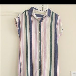 Old Navy Button Down Dress Size M Medium Stripe